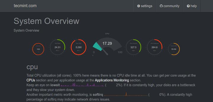 Monitoramento de servidor com Netdata